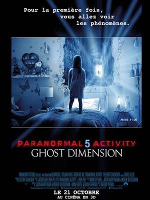 affiche du film Paranormal Activity 5 - The Ghost Dimension