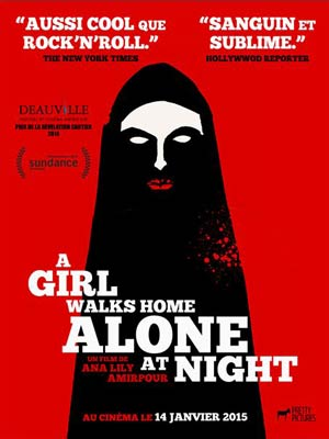 affiche du film A Girl walks home alone at night