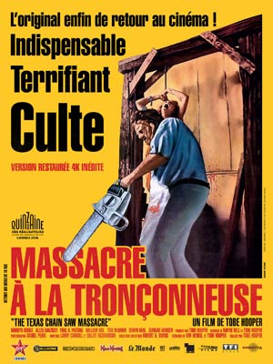 affiche du film Massacre à la tronçonneuse (1974) - Version restaurée