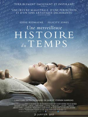 affiche du film Une Merveilleuse Histoire Du Temps (The Theory of Everything)