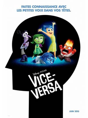 affiche du film Vice-Versa (Inside-out)